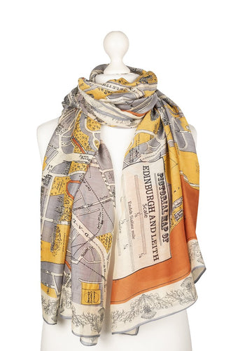 One Hundred Stars Edinburgh & Leith Map Scarf from Indie Edinburgh