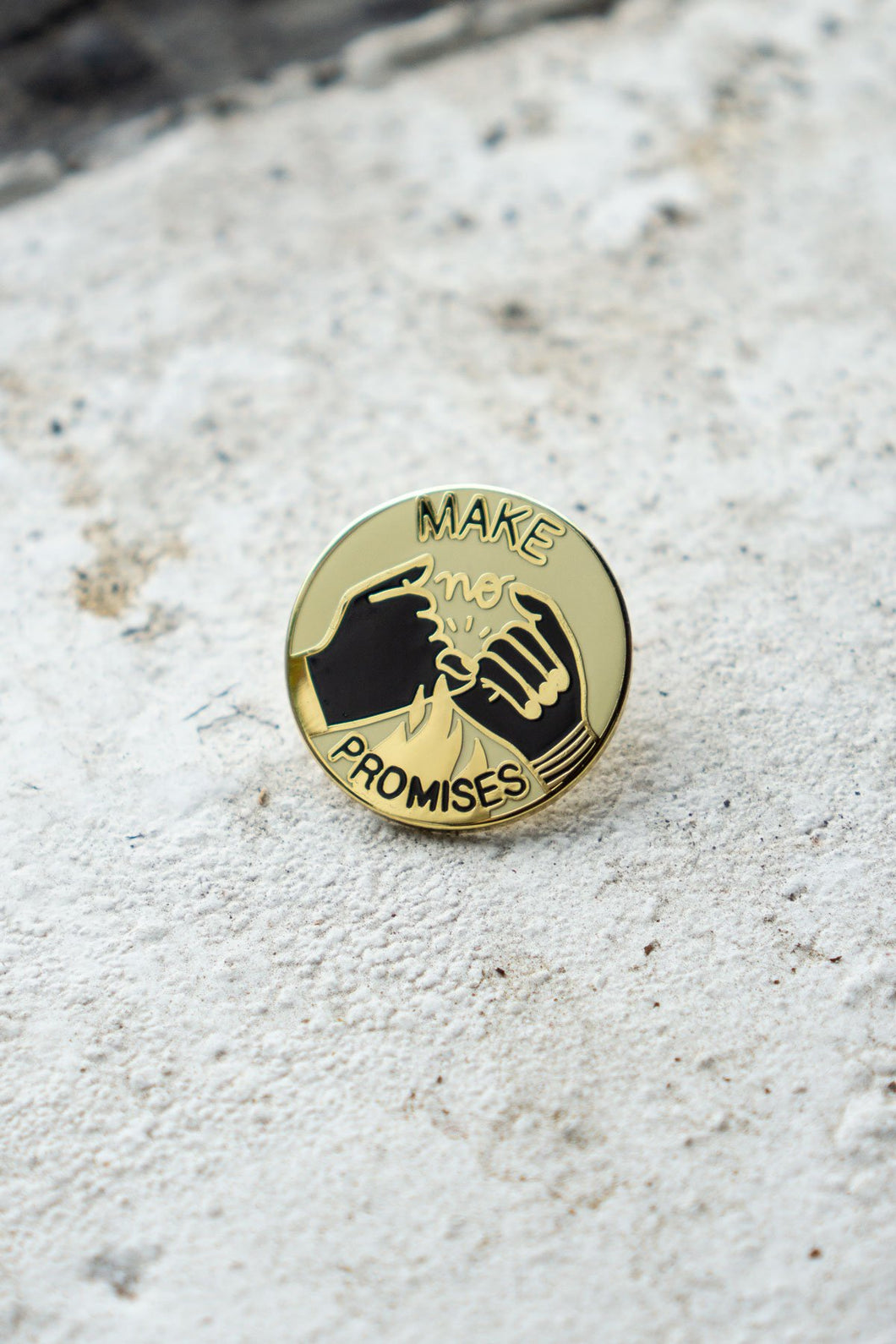 Stay Home Club Make No Promises Enamel Pin from Indie Edinburgh