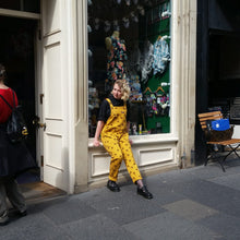 Load image into Gallery viewer, Run & Fly Bumble Bee Twill Dungarees available from Indie Edinburgh
