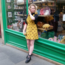Load image into Gallery viewer, Run & Fly Bumble Bee Cord Pinafore Dress from Indie Edinburgh