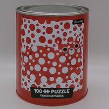 Load image into Gallery viewer, YAYOI CATSAMA ARTSY CATS 100 PIECE JIGSAW PUZZLE TIN