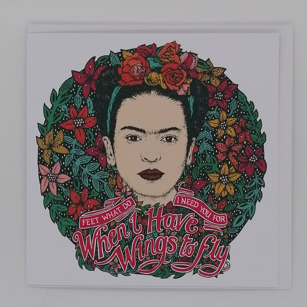 LOST PLOTS FRIDA KAHLO GREETING CARD