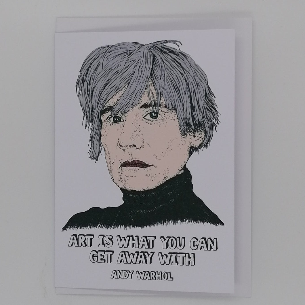 LOST PLOTS ANDY WARHOL GREETING CARD