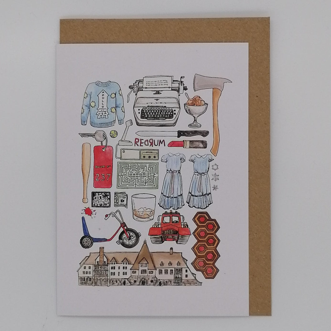 FLATLAY GREETING CARD THE SHINING