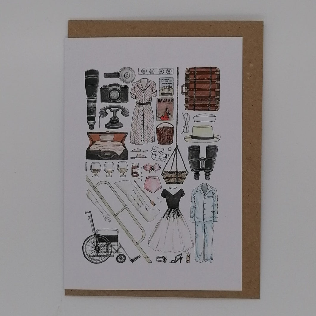FLATLAY GREETING CARD REAR WINDOW
