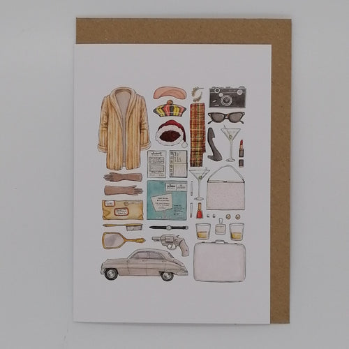 FLATLAY GREETING CARD CAROL