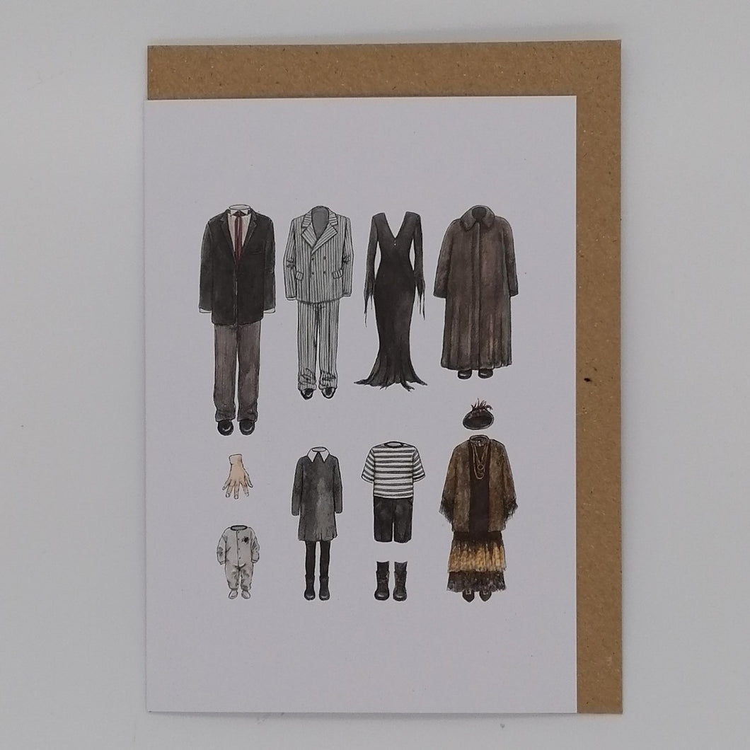 FLATLAY GREETING CARD THE ADDAMS FAMILY