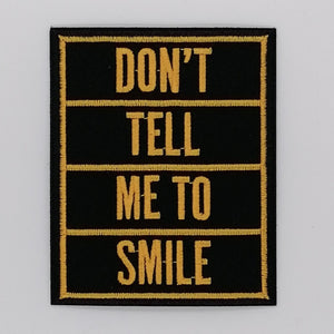 LUNA MCR DON'T TELL ME TO SMILE EMBROIDERED IRON ON PATCH