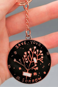 Stay Home Club Save Your Sorrow Keychain from Indie Edinburgh