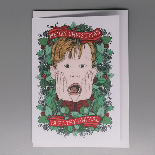 Lost Plots Home Alone Christmas Card from Indie Edinburgh