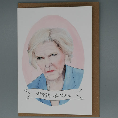 Oh Gosh Cindy! Bake Off Mary Berry Greeting Card from Indie Edinburgh