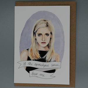Oh Gosh Cindy! Buffy The Vampire Slayer Card from Indie Edinburgh