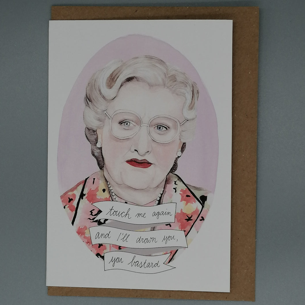 Oh Gosh Cindy! Mrs Doubtfire Card from Indie Edinburgh