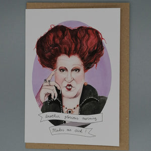 Oh Gosh Cindy! Winifred Hocus Pocus Card from Indie Edinburgh