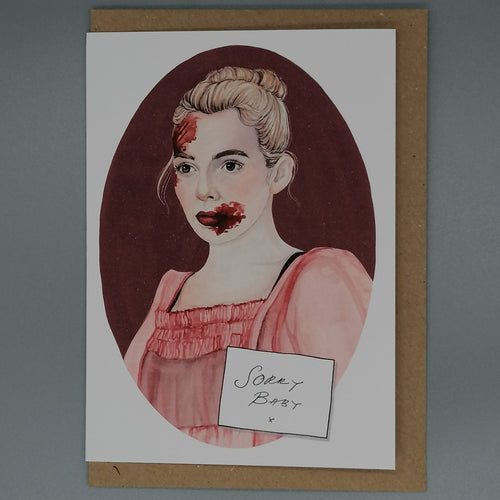 Oh Gosh Cindy! Killing Eve Villanelle Card from Indie Edinburgh