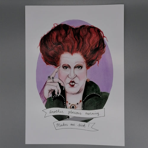 Oh Gosh Cindy! Hocus Pocus Winifred Print from Indie Edinburgh