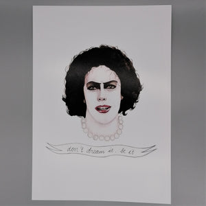 Oh Gosh Cindy! Dr Frank N. Furter A4 print from Indie Edinburgh
