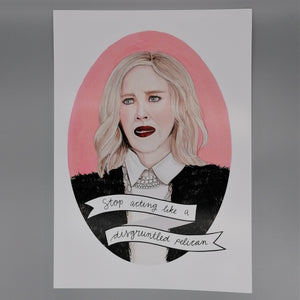 Oh Gosh Cindy! Schitt's Creek Moira Rose A4 print from Indie Edinburgh
