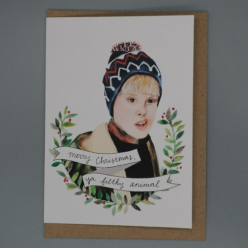 Oh Gosh Cindy! Home Alone Christmas Card from  Indie Edinburgh