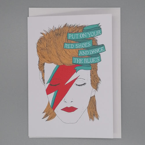 Lost Plots David Bowie Let's Dance Card available from Indie Edinburgh