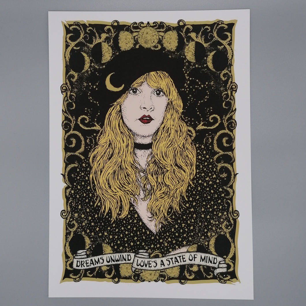 Lost Plots Stevie Nicks Rhiannon print available from Indie Edinburgh