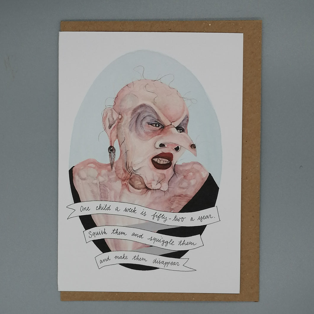 Oh Gosh Cindy! The Grand High Witch Greeting Card from Indie Edinburgh