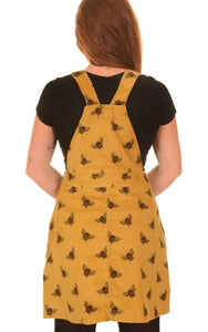 Run & Fly Bumble Bee Cord Pinafore Dress from Indie Edinburgh