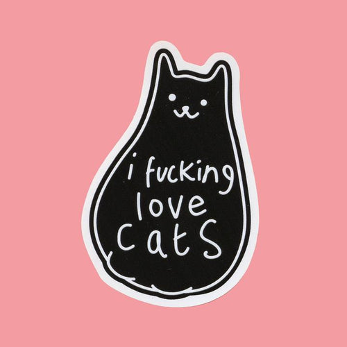 I F*cking Love Cats Vinyl Sticker available from Indie Edinburgh