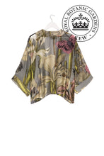 Load image into Gallery viewer, One Hundred Stars Kew Grey Iris Kimono from Indie Edinburgh