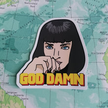 Load image into Gallery viewer, Luna Mcr Mia Wallace Pulp Fiction Vinyl Sticker from Indie Edinburgh