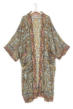 Load image into Gallery viewer, One Hundred Stars Decadent Aqua Long Crepe Kimono from Indie Edinburgh