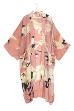 Load image into Gallery viewer, One Hundred Stars Stork Plaster Pink Long Kimono from Indie Edinburgh