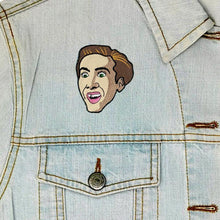 Load image into Gallery viewer, Nic Cage Iron On Patch available from Indie Edinburgh