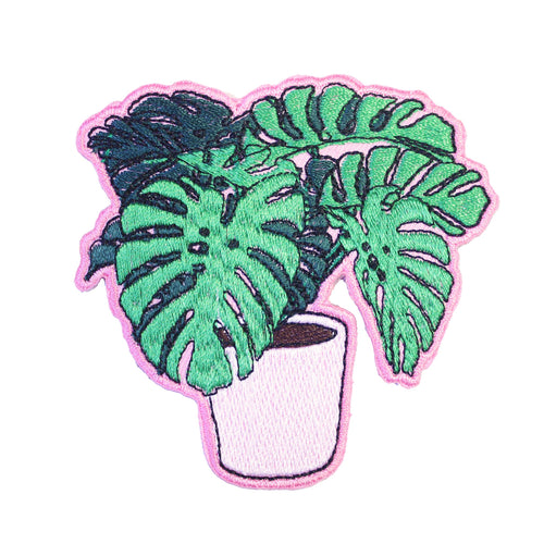 Monstera Iron On Patch available from Indie Edinburgh