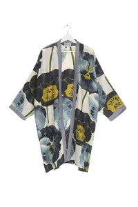 One Hundred Stars Grey Pansy Collar Kimono from Indie Edinburgh