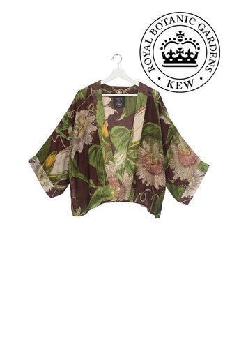 One Hundred Stars Burgundy Passion Flower Kimono from Indie Edinburgh