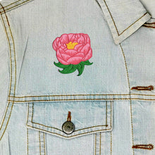Load image into Gallery viewer, Peony Iron On Patch available from Indie Edinburgh