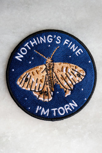 Stay Home Club I'm Torn iron on patch from Indie Edinburgh
