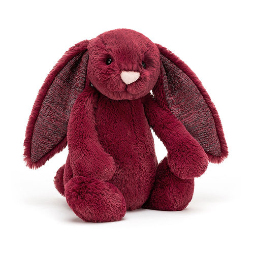 Jellycat Bashful Bunny Sparkly Cassis available from Indie Edinburgh