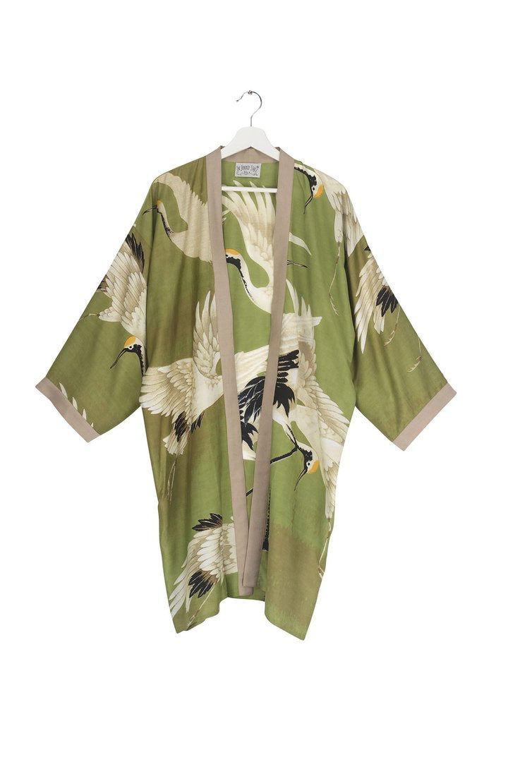 One Hundred Stars Green Stork Collar Kimono from Indie Edinburgh