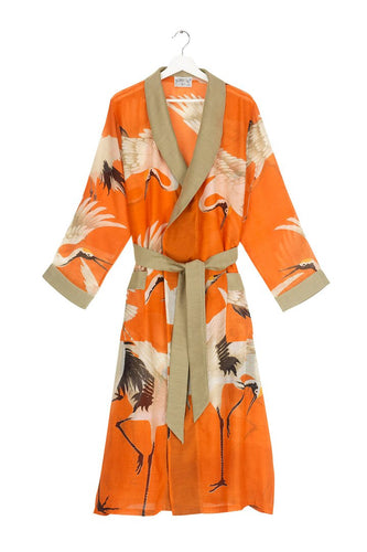 One Hundred Stars Orange Stork Gown available from Indie Edinburgh