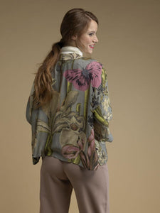 One Hundred Stars Kew Grey Iris Kimono from Indie Edinburgh