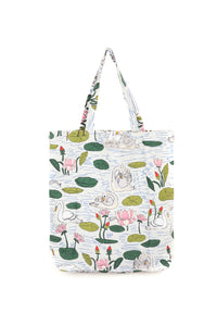 One Hundred Stars Swan Tote Bag available from Indie Edinburgh