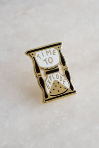 Stay Home Club Time To Explode Enamel Pin from Indie Edinburgh
