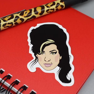 Amy Winehouse Vinyl Sticker available from Indie Edinburgh