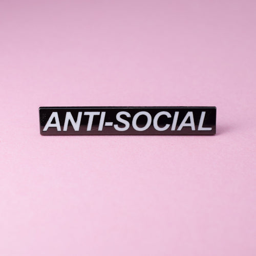 Anti Social Enamel Pin available from Indie Edinburgh