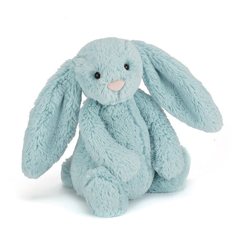 Jellycat Medium Bashful Bunny Aqua available from Indie Edinburgh