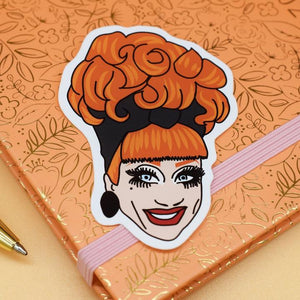Bianca Del Rio Vinyl Sticker available from Indie Edinburgh