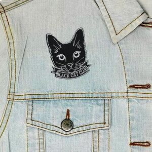 Black Cat Club Iron On Patch available from Indie Edinburgh
