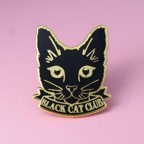 Black Cat Club Pin available from Indie Edinburgh